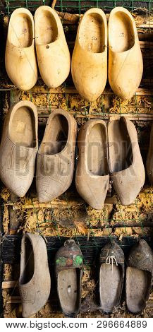 Traditional Vintage Wooden Handmade Dutch Clog Shoes