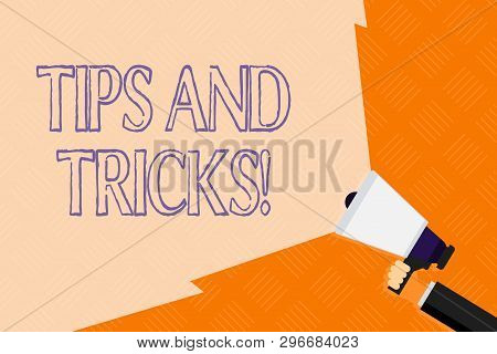 Conceptual Hand Writing Showing Tips And Tricks. Business Photo Text Means Piece Advice Maybe Sugges