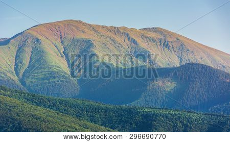 Fagaras Mountain Ridge In Afternoon. Beautiful Nature Scenery. Travel Destination Background. Wonder