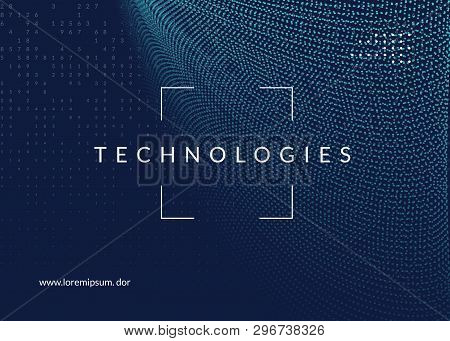 Big Data Background. Technology For Visualization, Artificial Intelligence, Deep Learning And Quantu