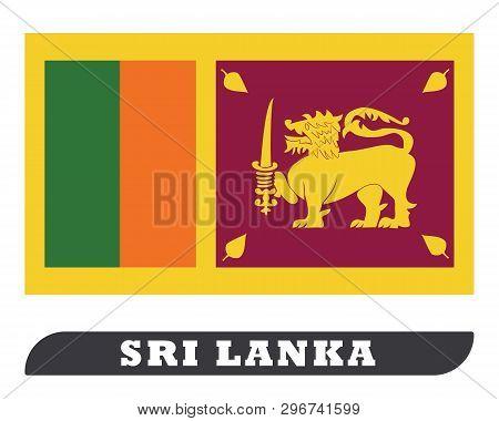 Sri Lanka Flag. Sri Lanka Flag Drawing By Illustration. Sri Lanka Flag In White Background.ceylon Fl
