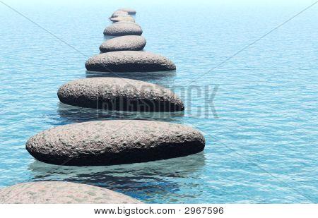 Rock in Wasser