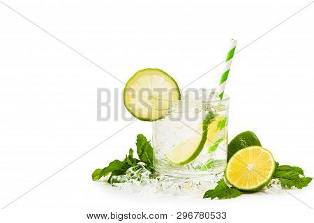 Moscow Mule Cocktail Isolated On White Background. A Moscow Mule Is A Cocktail Made With Vodka, Spic