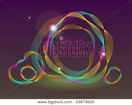 vector abstract swirl background