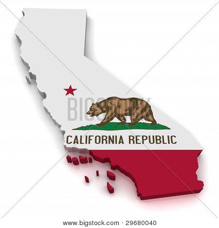 3D Karte von Kalifornien