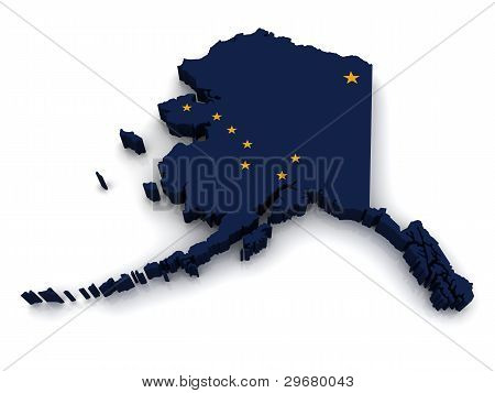 3D Map of Alaska