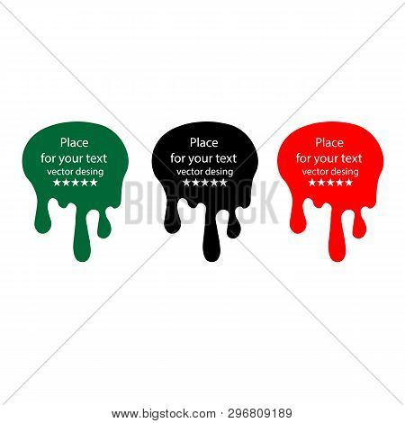 Paint Drips Background. Vector Dripping Paint. Illustrations Of Various Dripping Black Paint. Ink Dr
