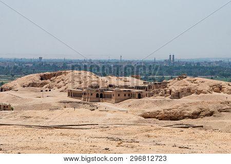 The Antique Temple Of Female Pharao Hatchepsut Near Luxor In Egypt