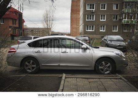 Kazakhstan, Ust-kamenogorsk - 20 April, 2019. Nissan Teana. Japanese Car.
