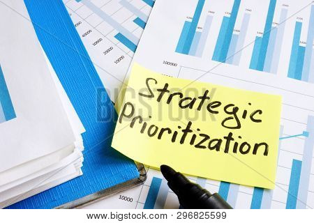 Strategic Prioritization Concept. Documents And Folder With Papers.