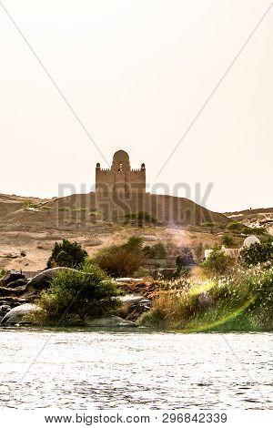 Mausoleum Of Aga Khan Sultan Muhammed Shah Located At Aswan Nile Of Egypt