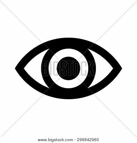 Eye Icon, Visibility Icon Isolated On White Background. Eye Icon, Visibility Icon Simple Sign. Visib