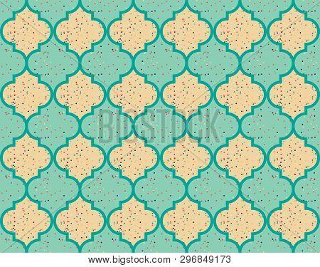 Moroccan Quatrefoil Seamless Pattern Mosaic Ogee Vector