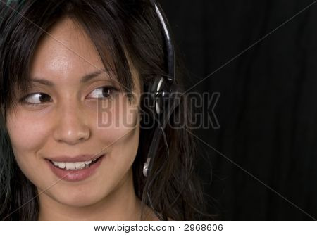 Attractive Young Woman Answering Call