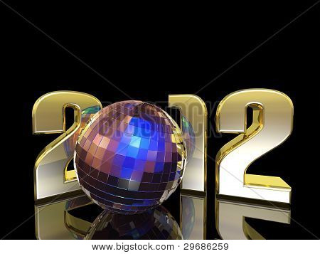 2012 New Year Disco Ball