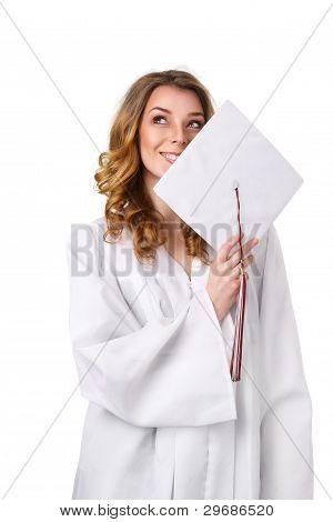 Happy College Girl
