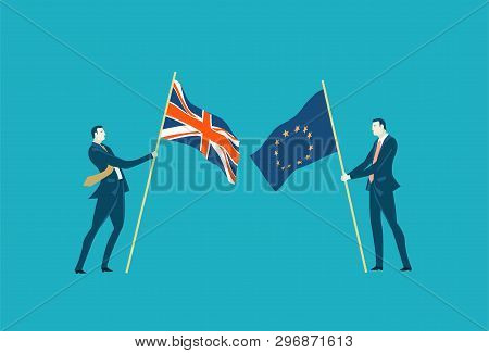 Brexit Concept Illustration. Brexit Or No Brexit. Making The Right Decigion