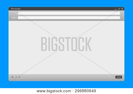 Creative Vector Illustration Of Email Message Interface With Send Form Isolated On Transparent Backg