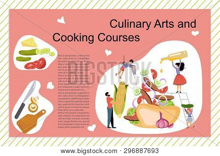 Culinary Art And Cooking Courses Poster, Banner Template. Happy Family Cooking Together A Mexican Ta
