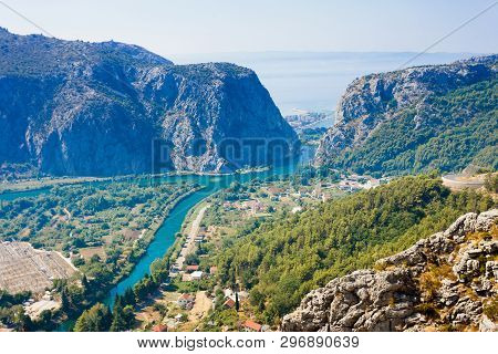 Omis, Croatia, Europe - Beautiful Scenery Around The Mountains Of Omis In Croatia