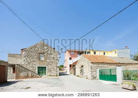 Pakostane, Croatia, Europe - Traditional Farming Houses In The Back Country Of Pakostane