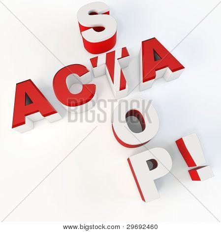 3D Sign Protest Stop Acta