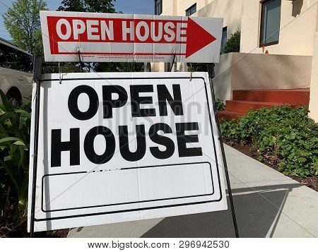 Open House Signs Commonly Used For Real Estate Purposes.