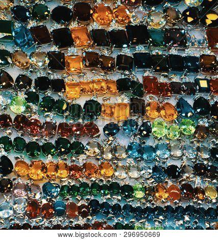Bright Cheap Women's Bijouterie, Jewelry, Shiny Glass, Background