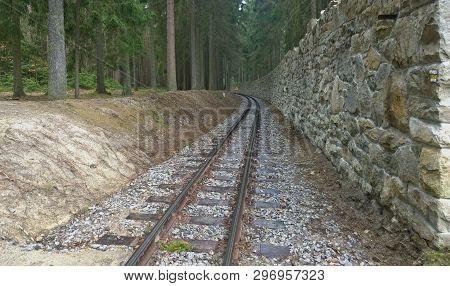 Unique Historic Narrow-gauge Railway. South Bohemia, Czech Republic