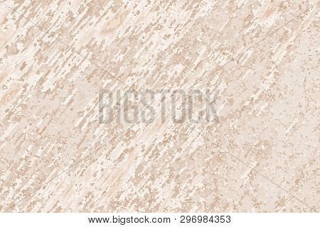 Beige Brown Spotted Speckled Background. Wall Grunge Texture. Vector Modern Background For Posters,