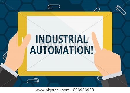 Conceptual Hand Writing Showing Industrial Automation. Business Photo Showcasing Use Of Control Syst