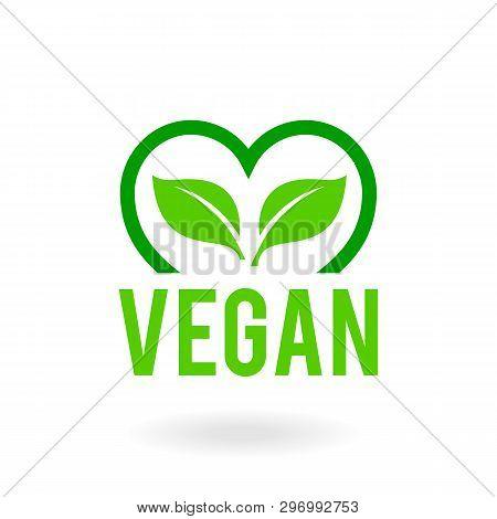 Icon For Vegan Food. Bio, Ecology, Organic Logos And Badges.