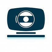 Webcam icon. Shadow reflection design. Vector illustration. poster