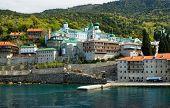 Saint Panteleimon Holy Monastery Mount Athos Halkidiki Greece poster