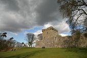 Kinross Castle on an island in Loch Leven Kinrosshire poster
