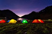 Night View Of Ranu Kumbolo Campsite.Ranu Kumbolo might be one of the familiar names, especially for those who like to ride mountains. Dubbed the paradise of Semeru, Ranu Kumbolo or Lake Kumbolo which is at the foot of Mount Semeru poster