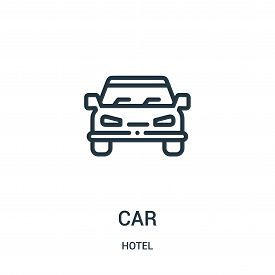 Car Icon Isolated On White Background From Hotel Collection. Car Icon Trendy And Modern Car Symbol F