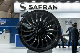 Bengaluru, India - February 22, 2019: Visitors At The Safran Stall At The Aero India 2019 Exhibition