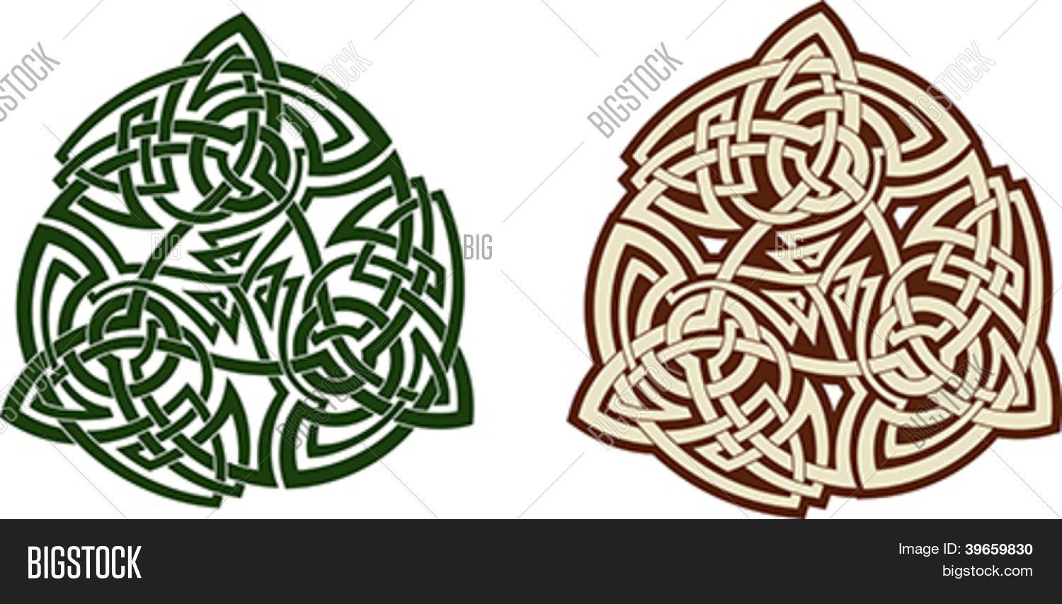 Traditional Celtic Triskell Tattoo Pattern Scalable Vector Illustration
