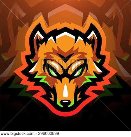 Foxes Head Sport Mascot Logo With Text