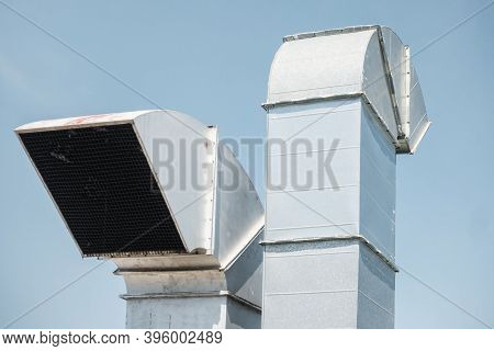 Duct Blower For Air Ventilation Smoke Exhaust Over Roofing Of Shopping Mall, Air Ventilations Equipm