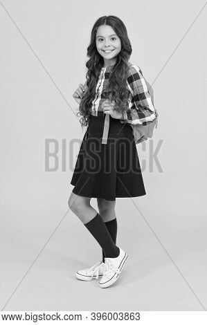 Inspired For Studying. Good Clothes For Successful Academic Year. Teen Fashion. Schoolgirl Modern Cl
