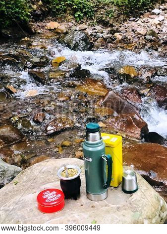 Fattening A Mate On The Banks Of The River With Crystal Clear Water