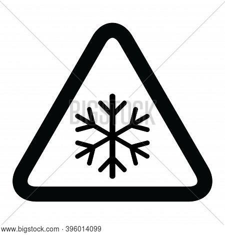 Snow Winter Icon, Danger Ice Flake Sign, Risk Alert Vector Illustration, Careful Caution Symbol