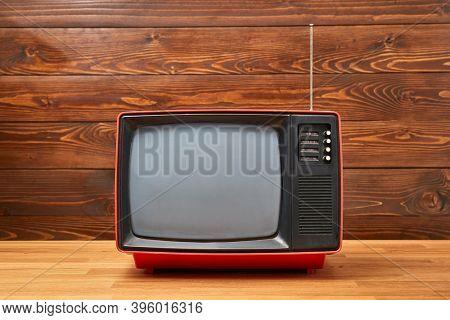 Small old analogue TV set