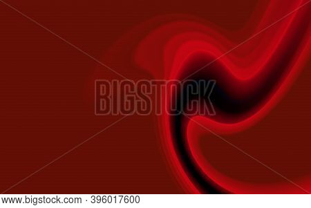 Red Color Curled Abstract Light Background. Scarlet Streaks Futuristic Cover. Design Creative Graphi