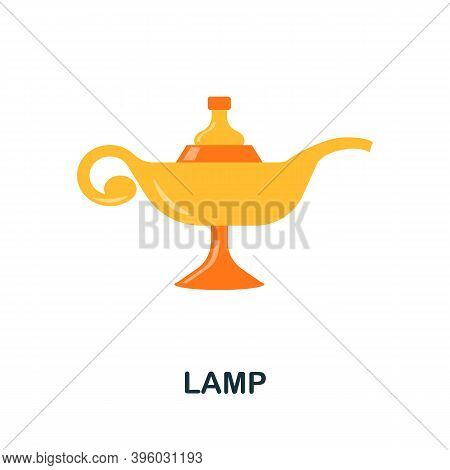 Lamp Icon. Simple Element From Muslim Collection. Creative Lamp Icon For Web Design, Templates, Info