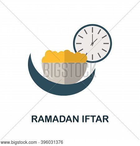 Ramadan Iftar Icon. Simple Element From Muslim Collection. Creative Ramadan Iftar Icon For Web Desig