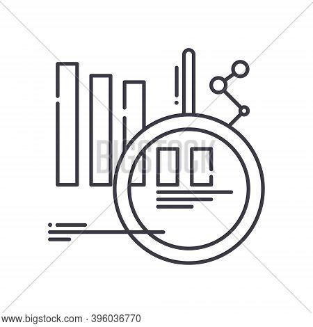 Market Forecast Image Icon, Linear Isolated Illustration, Thin Line Vector, Web Design Sign, Outline