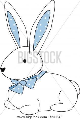 Bunny Polka Blue